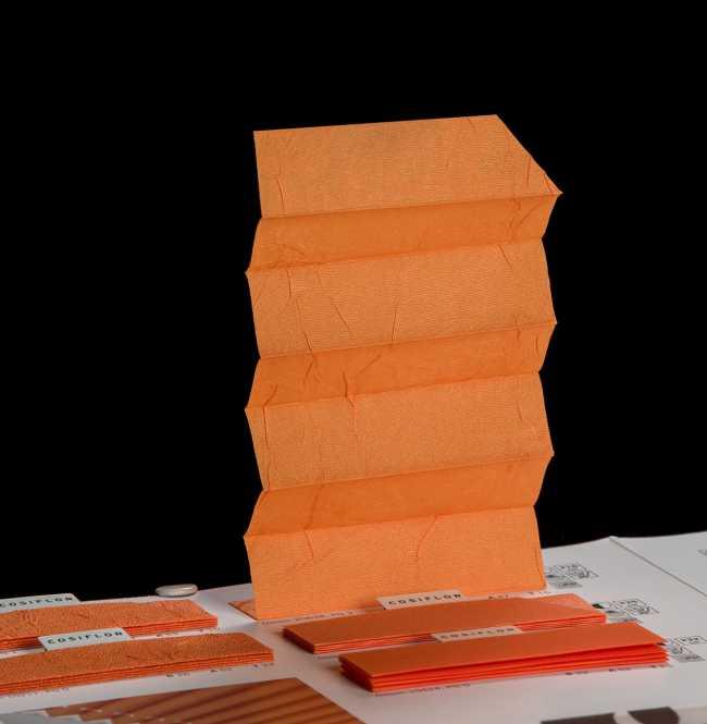 Штора плиссе Bloecker Cosiflor 20638 PG2, R37 A47 T16