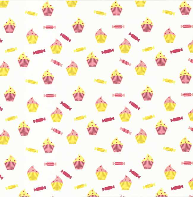 Рулонная штора Mini. Кексы