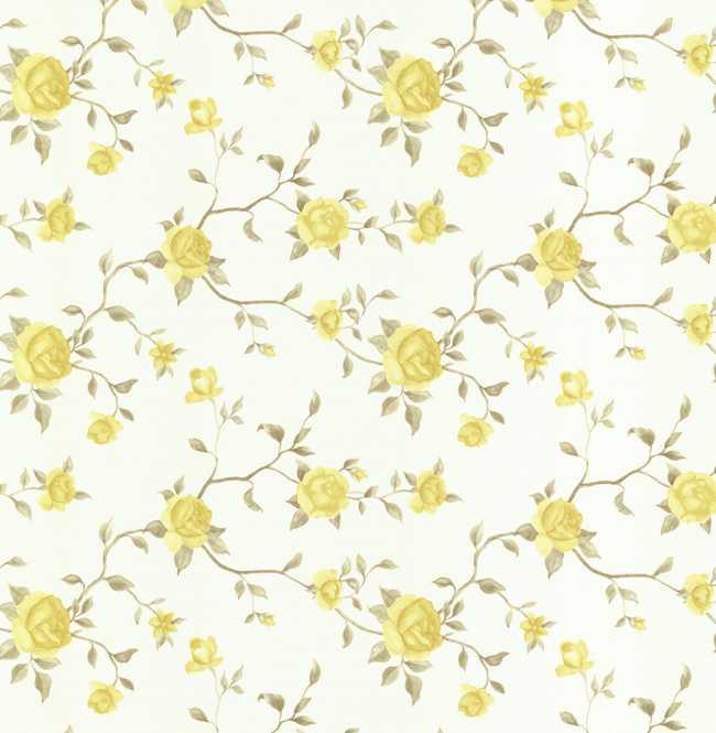 Рулонная штора Mini. Крымская роза Желтый