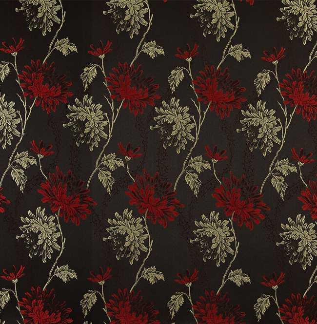 Рулонная штора Mini. Сиена Черно-красный