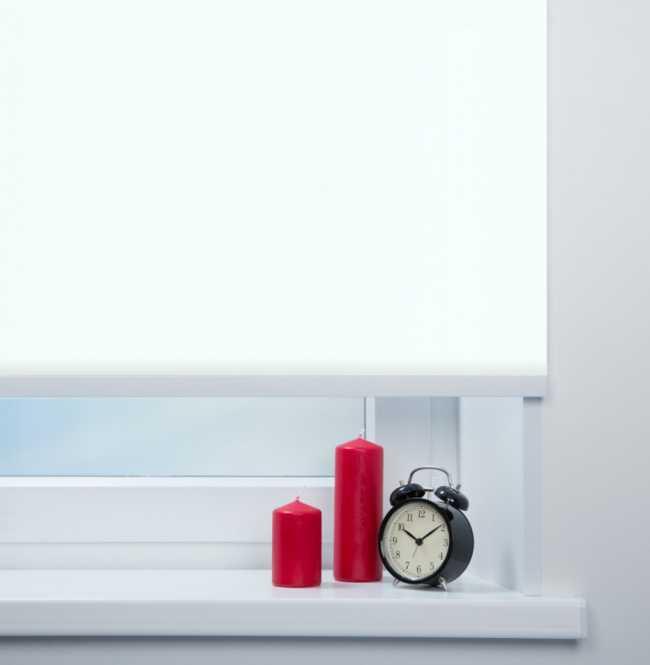 Рулонная штора Mini. Аруба Белый
