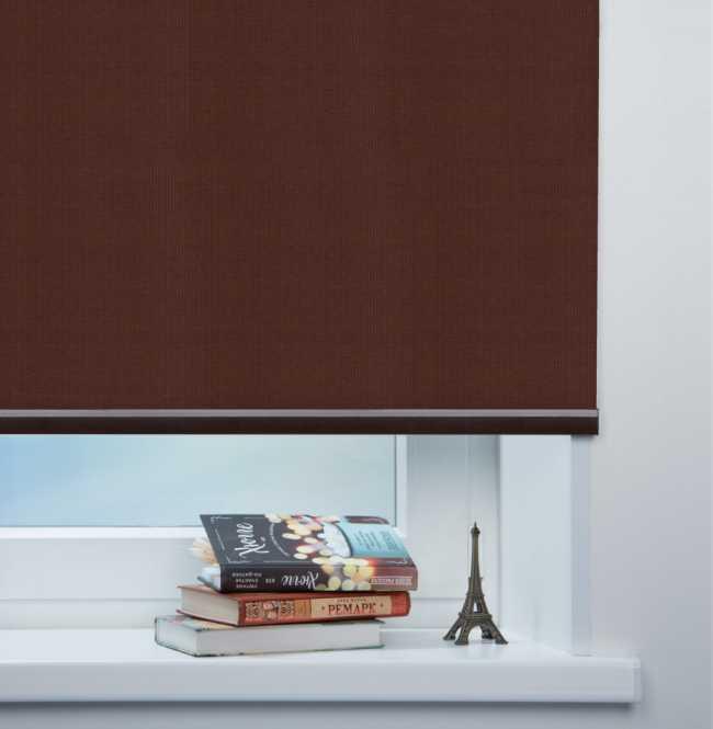 Рулонная штора Mini. Аруба Темно-коричневый
