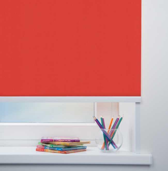 Рулонная штора Mini. Карина Красный