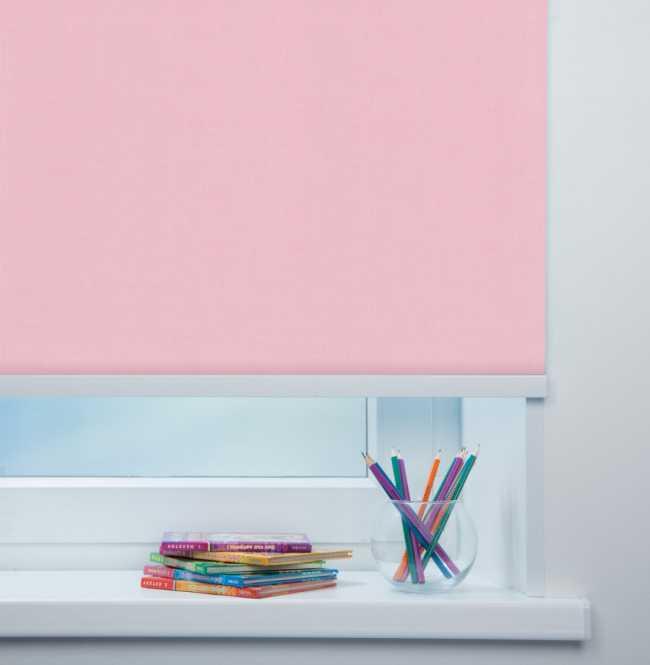 Рулонная штора Mini. Карина Светло-розовый