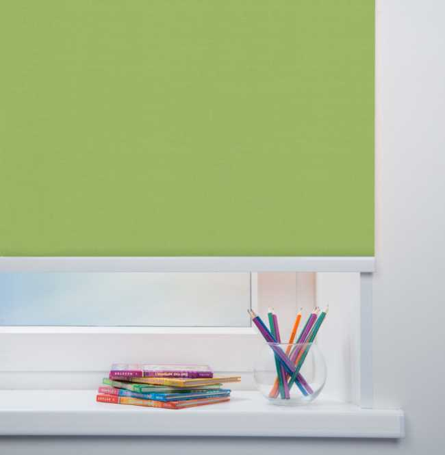 Рулонная штора Mini. Карина Светло-зеленый