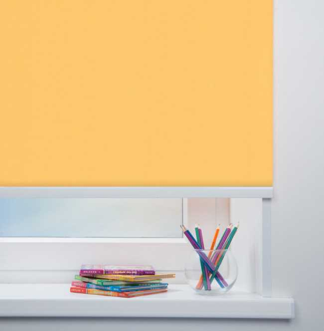 Рулонная штора Mini. Карина Светло-желтый