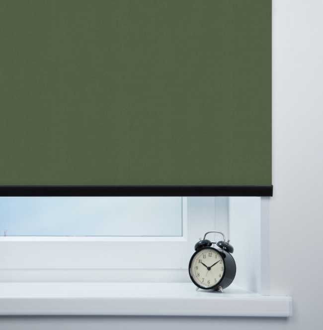 Рулонная штора Mini. Карина Темно-зеленый