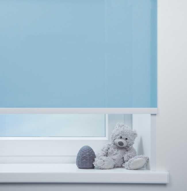 Рулонная штора Mini. Куба Голубой