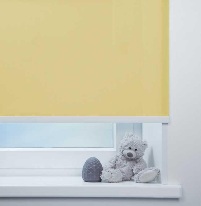 Рулонная штора Mini. Куба Желтый
