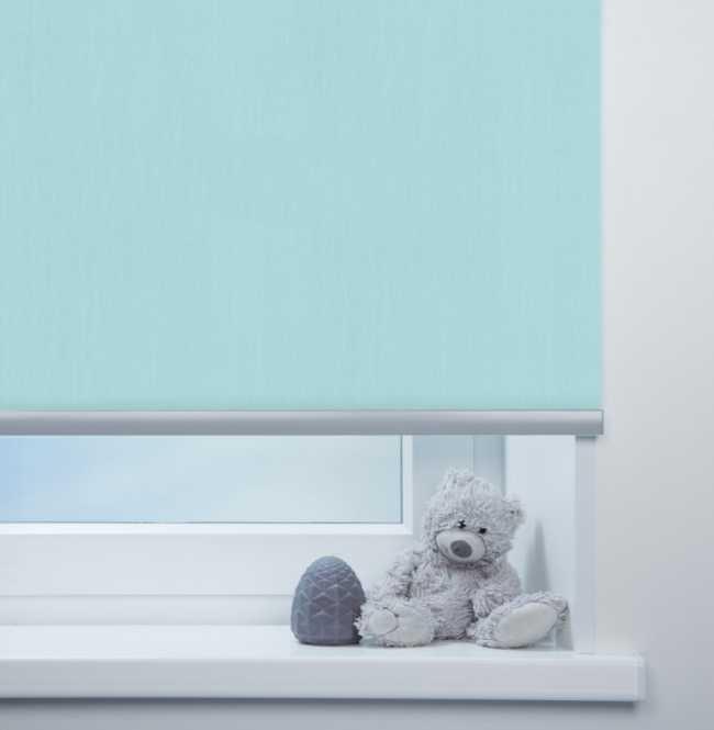 Рулонная штора Mini. Лусто Голубой