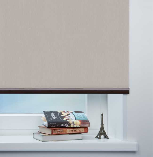 Рулонная штора Mini. Лусто Светло-серый