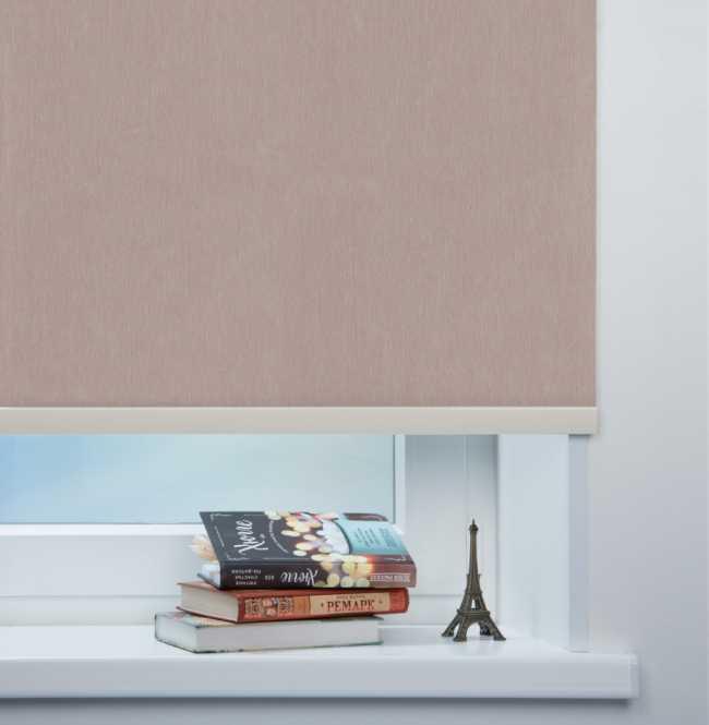 Рулонная штора Mini. Лусто Темно-розовый