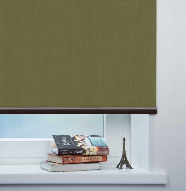 Рулонная штора Mini. Лусто Темно-зеленый