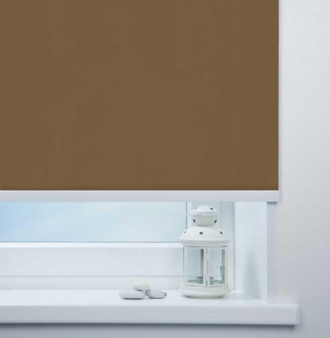 Рулонная штора Mini. Мадагаскар Коричневый