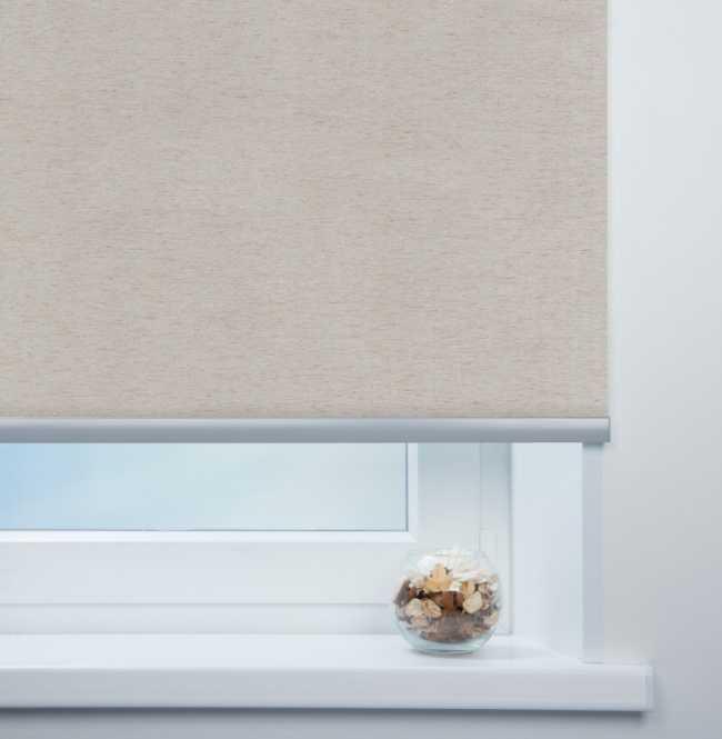Рулонная штора Mini. Мадагаскар Лен серый