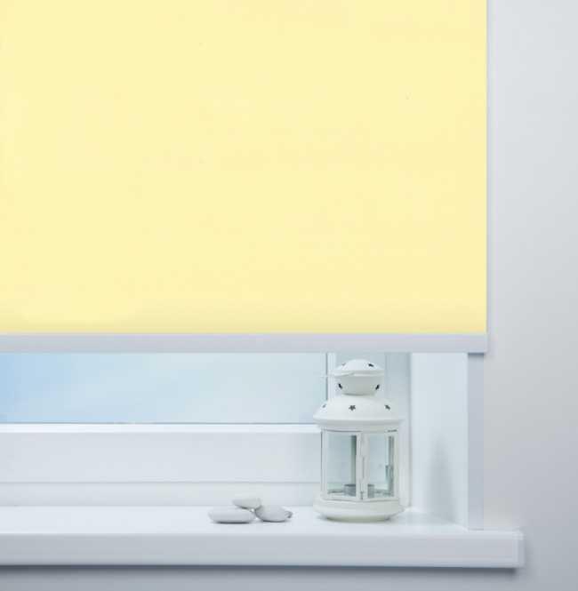 Рулонная штора Mini. Мадагаскар Светло-желтый
