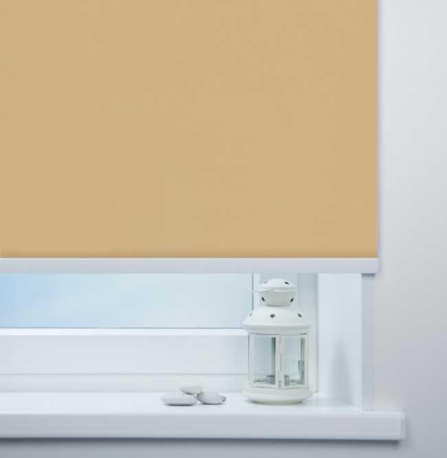 Рулонная штора Mini. Мадагаскар Темно-бежевый