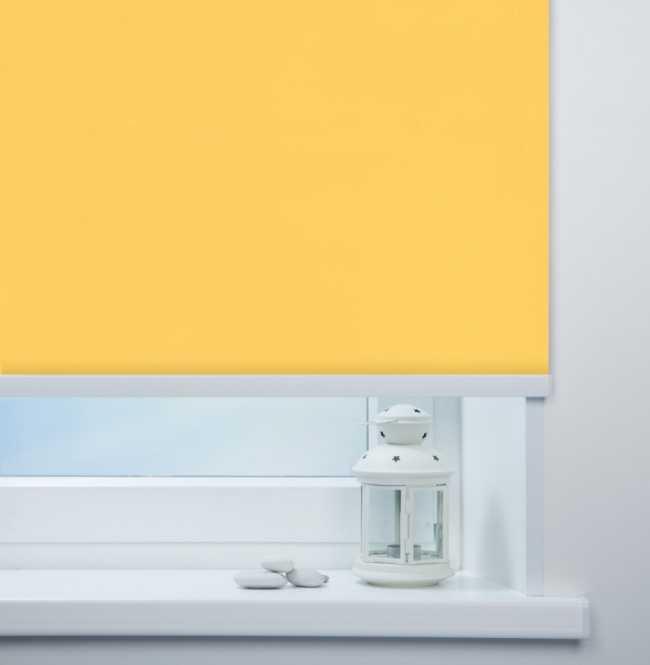 Рулонная штора Mini. Мадагаскар Желтый