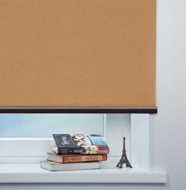 Рулонная штора Mini. Металлик Античное золото