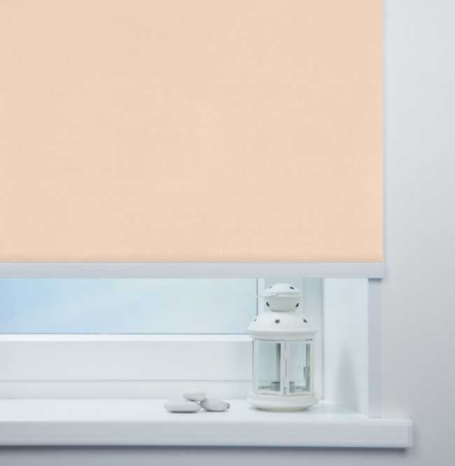 Рулонная штора Mini. Металлик Персиковый