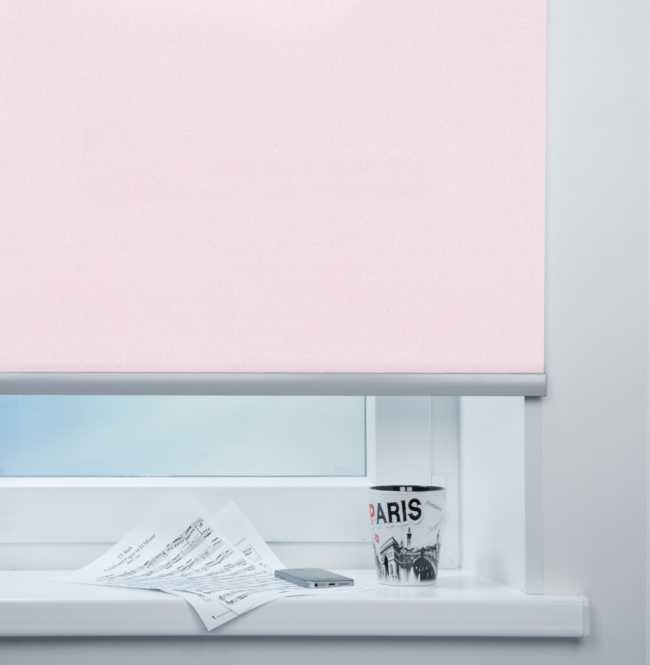 Рулонная штора Mini. Металлик Розовый