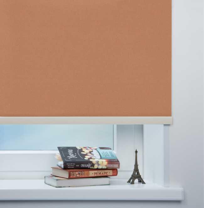 Рулонная штора Mini. Металлик Светло-коричневый
