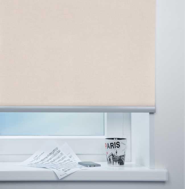Рулонная штора Mini. Металлик Светло-розовый