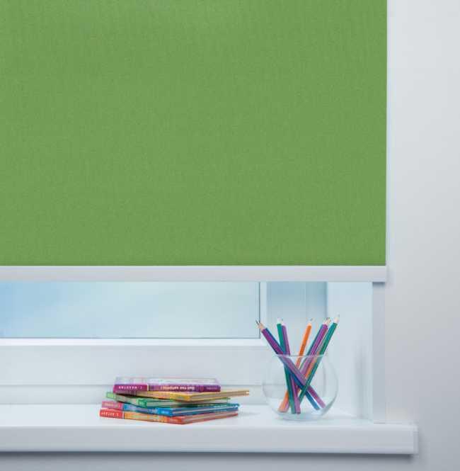 Рулонная штора Mini. Металлик Светло-зеленый