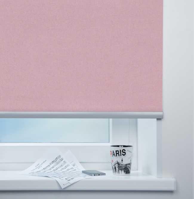 Рулонная штора Mini. Металлик Темно-розовый