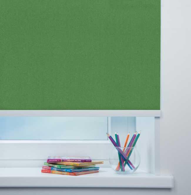 Рулонная штора Mini. Металлик Темно-зеленый