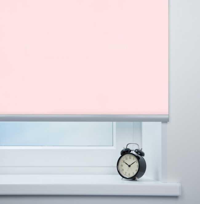 Рулонная штора Mini. Респект блэкаут Розовый