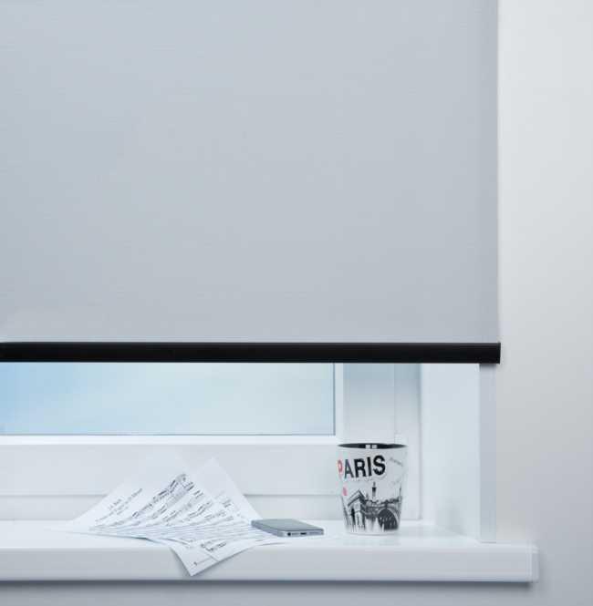 Рулонная штора Mini. Скрин 5% Серый