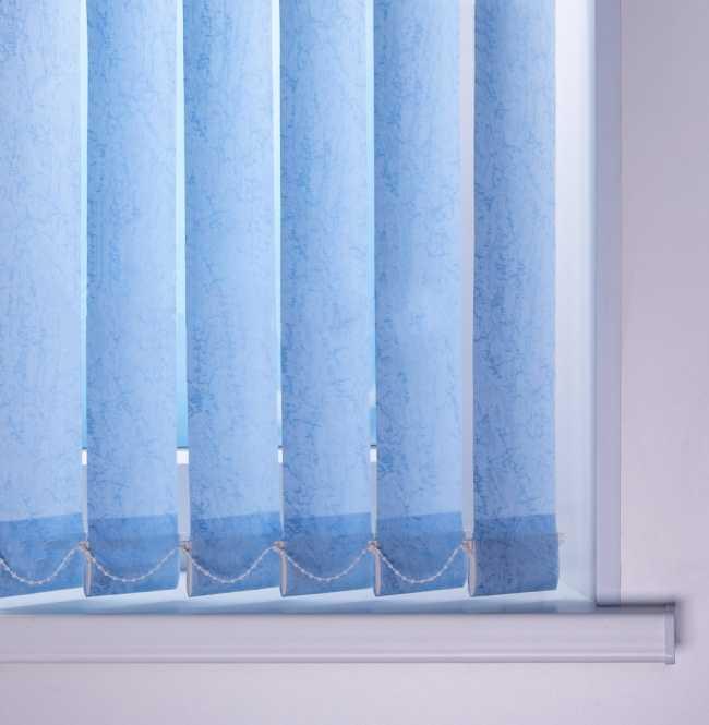 Вертикальные жалюзи Шелк Морозно-голубой
