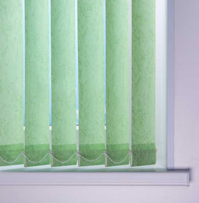 Вертикальные жалюзи Шелк Светло-зеленый