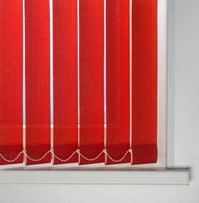 Вертикальные жалюзи Лайн Красный