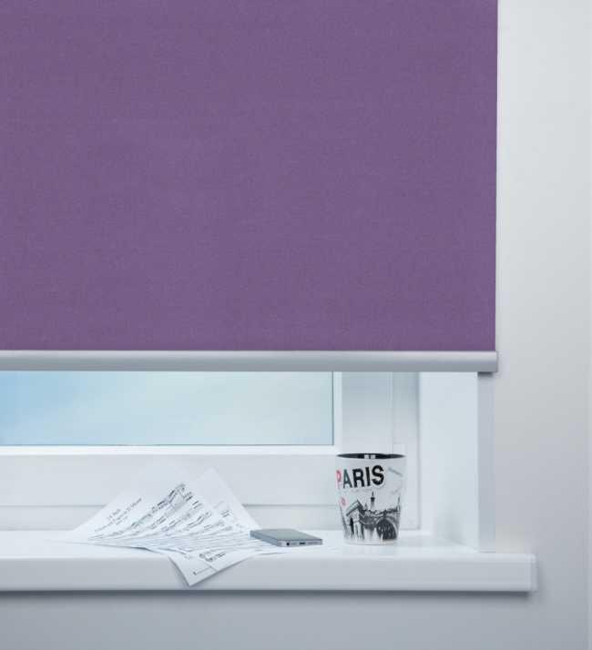 Рулонная штора Металлик Фиолетовый