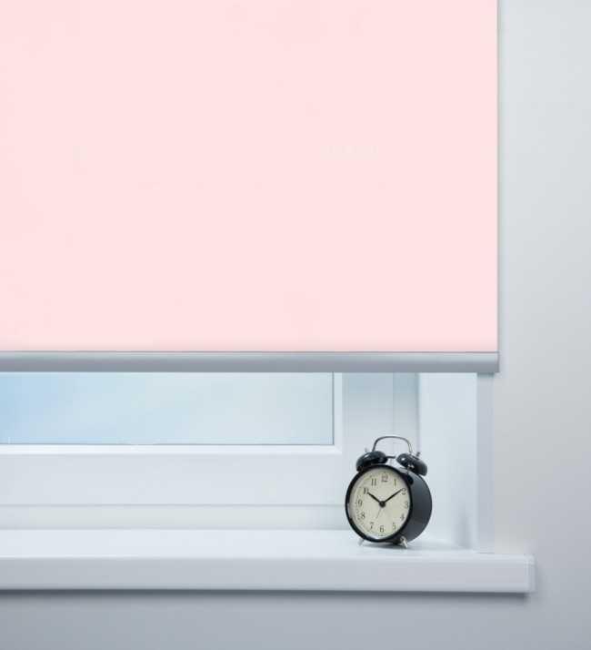 Рулонная штора Респект блэкаут Розовый