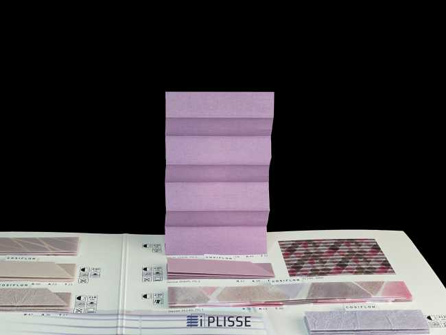 Штора плиссе Bloecker Cosiflor Basic NEW 10436, PG0, R19 A49 T32