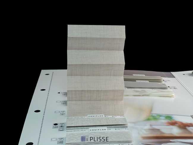 Штора плиссе Bloecker Cosiflor Basic NEW 10722, PG2, R37 A23 T40
