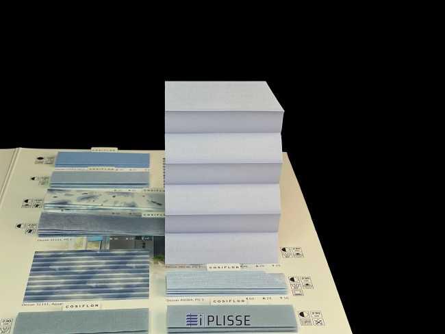 Штора плиссе Bloecker Cosiflor Basic NEW 20236, PG1, R46 A29 T25