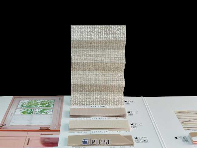 Штора плиссе Bloecker Cosiflor Basic NEW 30921, PG2, R34 A45 T21