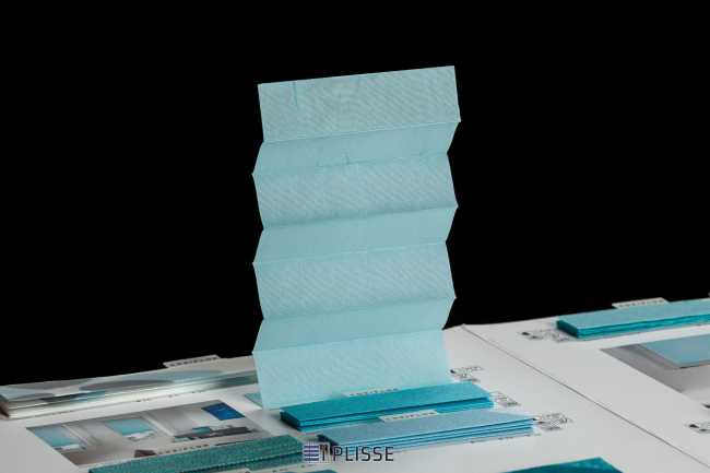 Штора плиссе Bloecker Cosiflor Basic 10319 PG1, R38 A24 T38