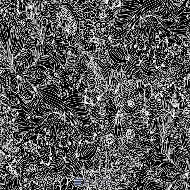 Рулонная штора Прованс Черный