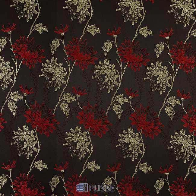 Рулонная штора Сиена Черно-красный