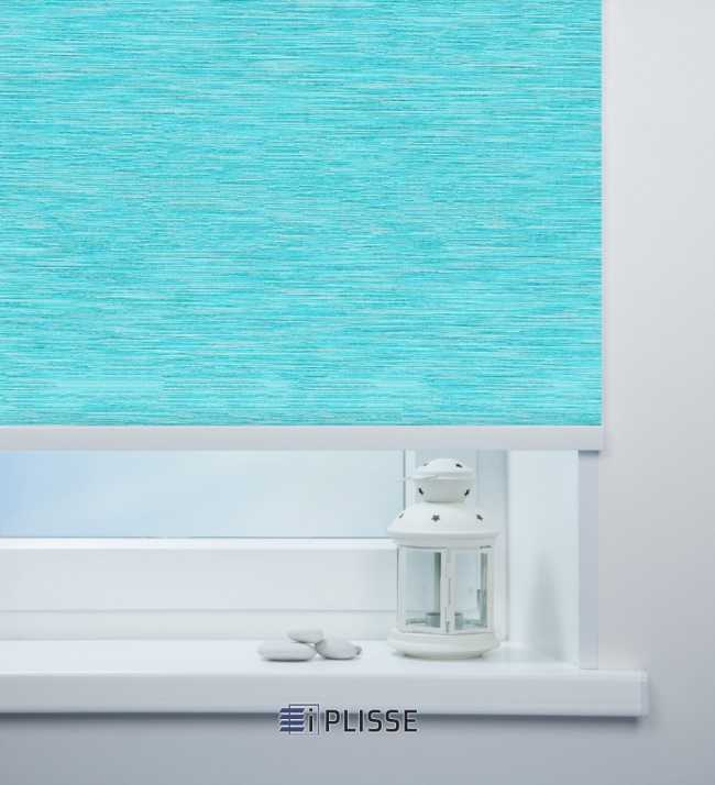 Рулонная штора Корсо блэкаут Голубой