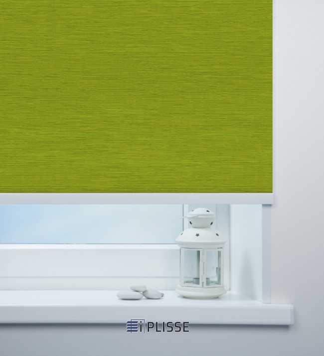 Рулонная штора Корсо блэкаут Зеленый