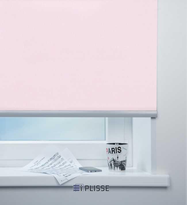 Рулонная штора Металлик Розовый