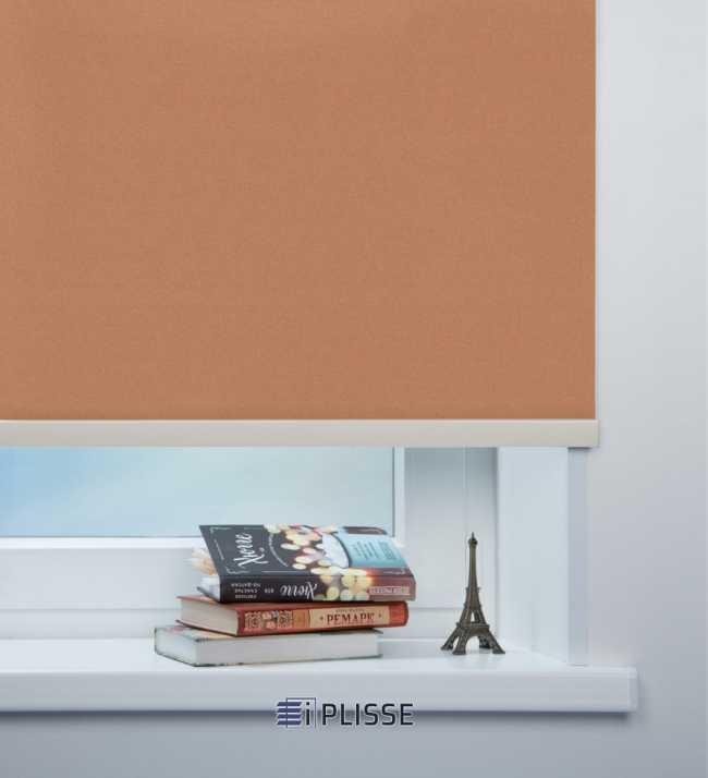 Рулонная штора Металлик Светло-коричневый