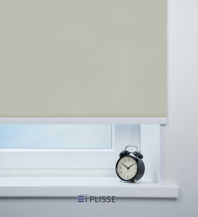 Рулонная штора Респект блэкаут Светло-серый