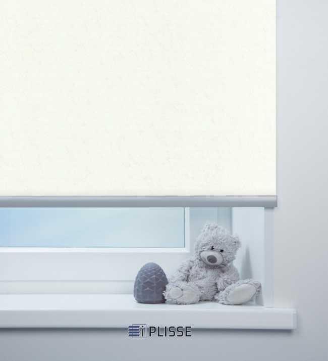 Рулонная штора Шелк Белый